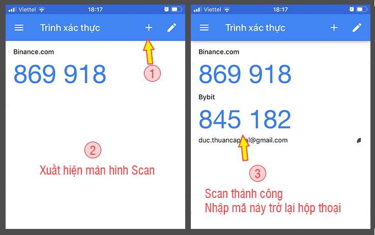 Scan QR code trên điện thoại